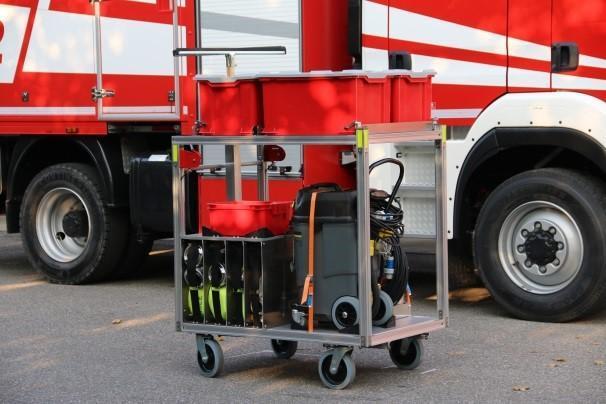 Rollwagen Wasserschaden 1