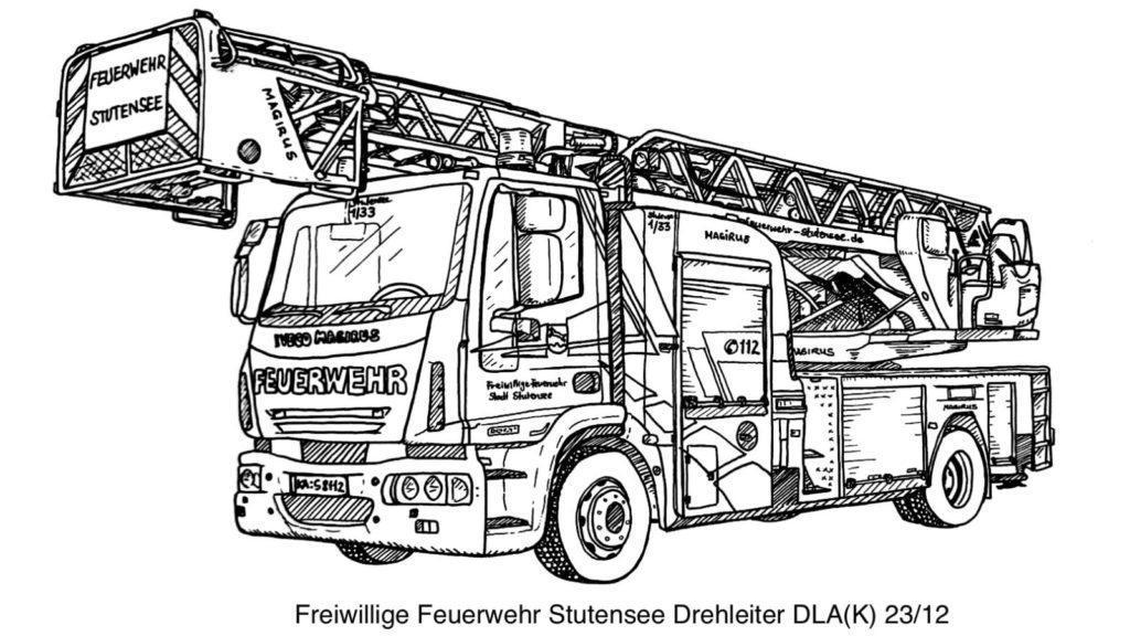 FF Stutensee DLAK Ausmalvorlage