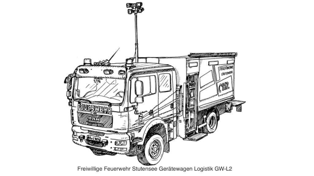 FF Stutensee GWL Ausmalvorlage