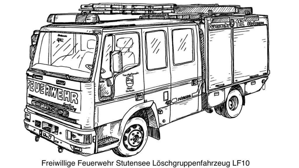 FF Stutensee LF10 Ausmalvorlage
