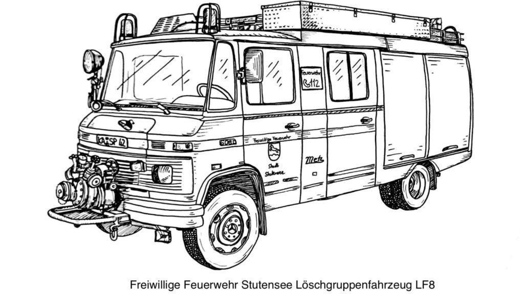 FF Stutensee LF8 Ausmalvorlage